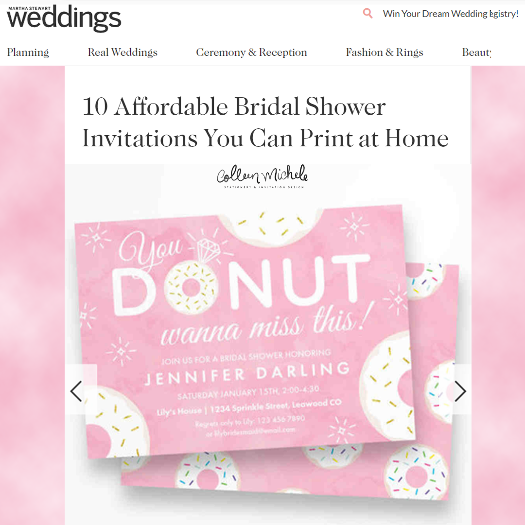 donut bridal shower invitation
