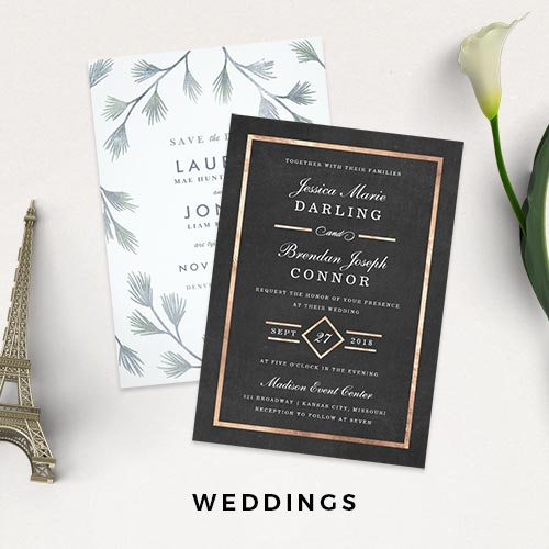 Wedding Invitations, Save the Dates and Bridal Shower Invitations