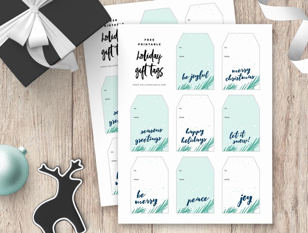 Joyful Pines - Free Holiday Gift Tag Printables