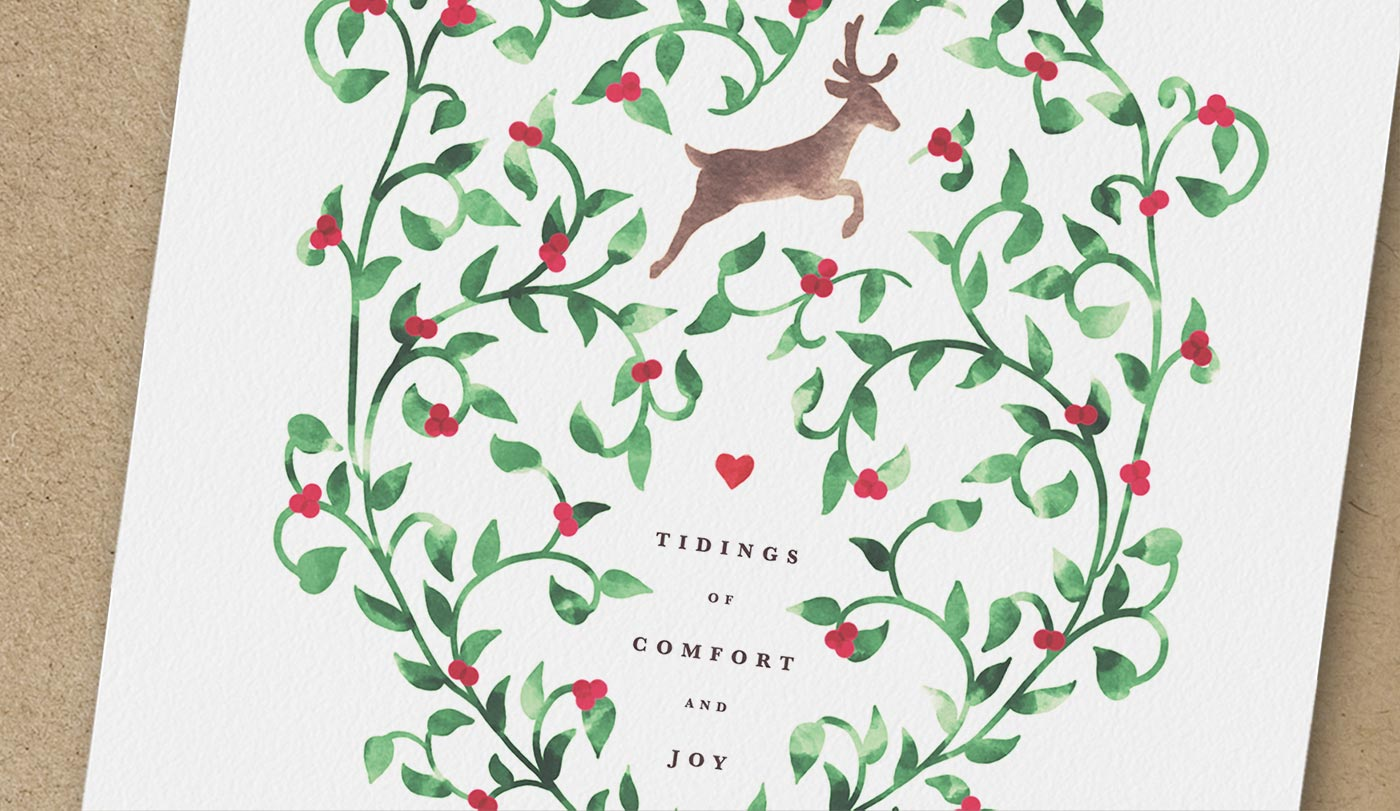 Free Christmas printable: Tidings of Comfort & Joy ...