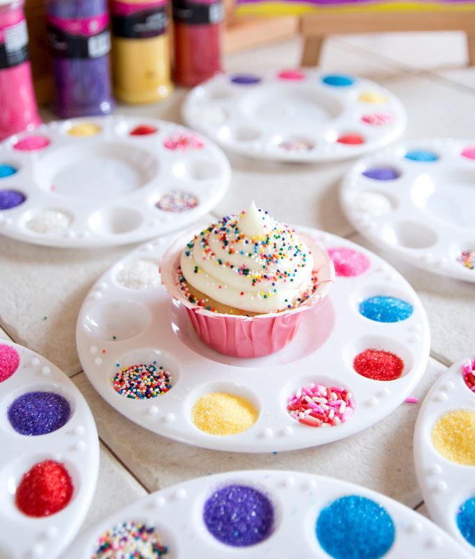 diy confetti cupcakes for rainbow sprinkle party