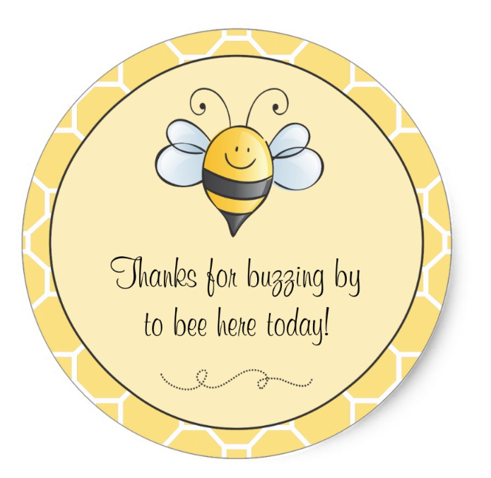 bee theme stickers