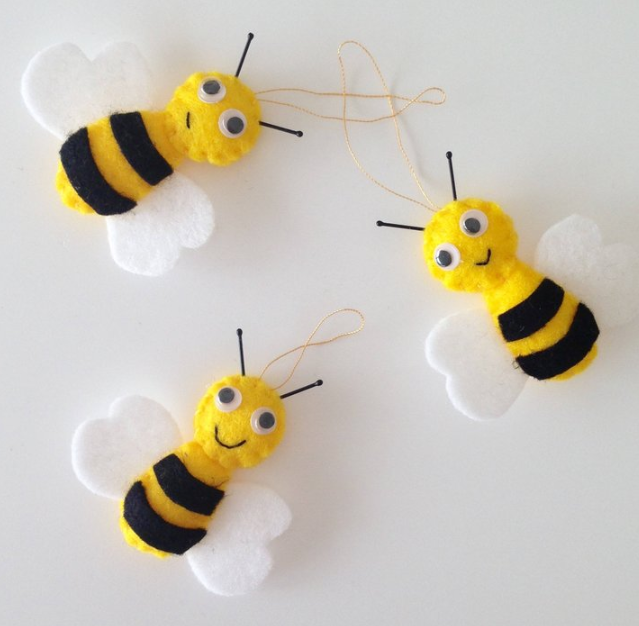 hand made cute bees