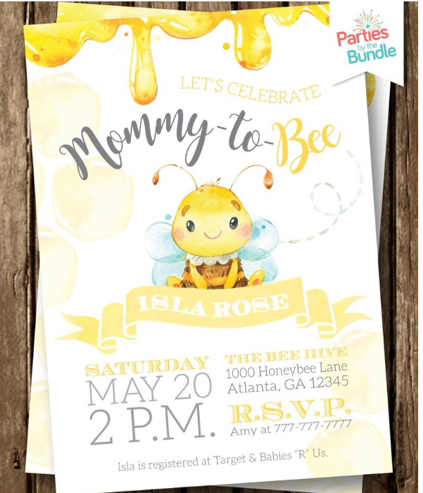 mommy to bee invitation