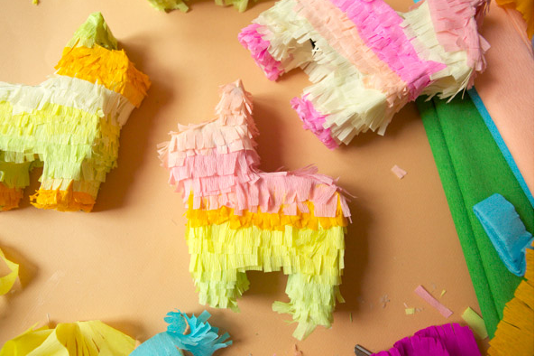 cute diy mini pinatas for fiesta theme party