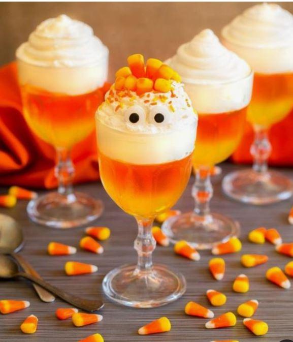 candy corn jello desserts
