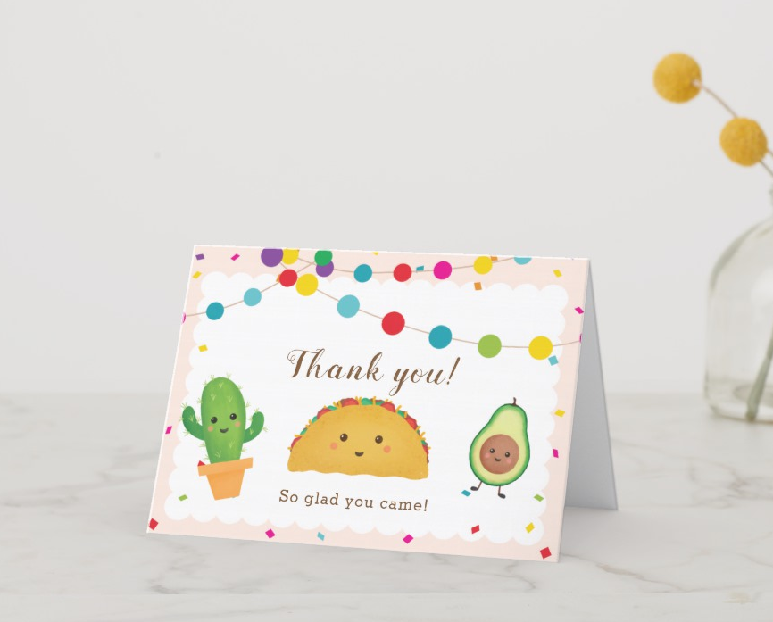 free fiesta theme thank you card