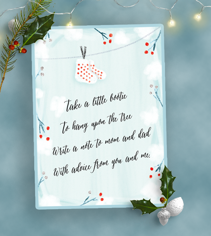 Free baby shower poem printable for winter baby showers