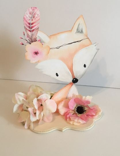 adorable watercolor fox centerpiece