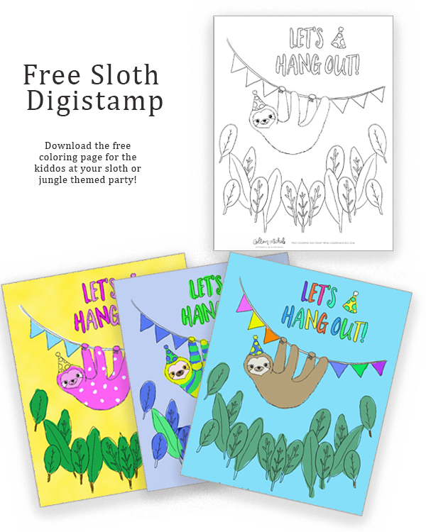 free sloth digistamp