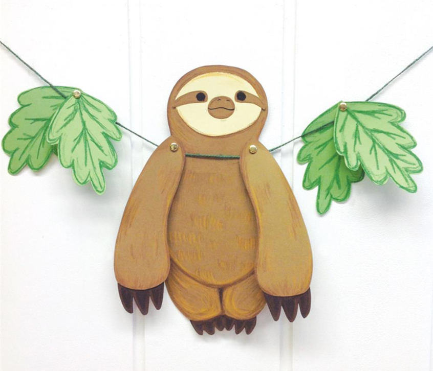 free diy sloth template