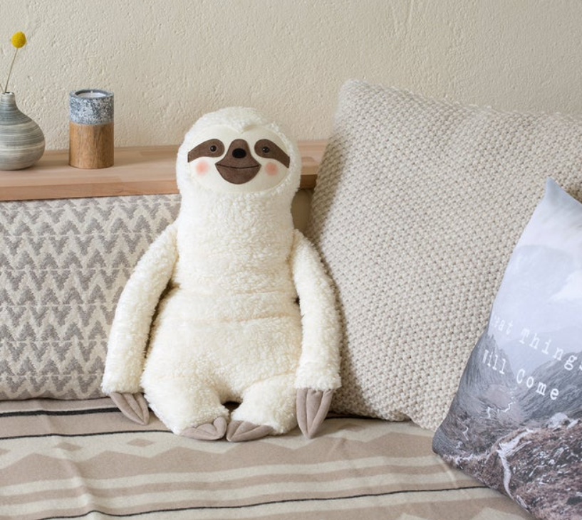 plush sloth party decoration
