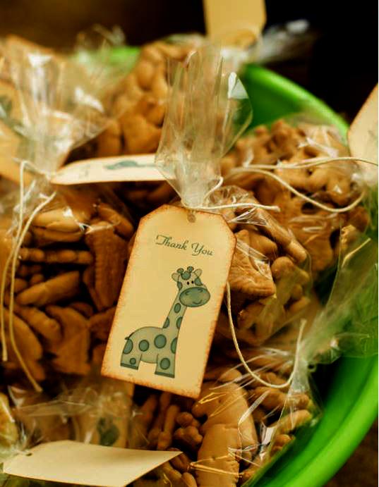 animal cracker favors for safari theme shower