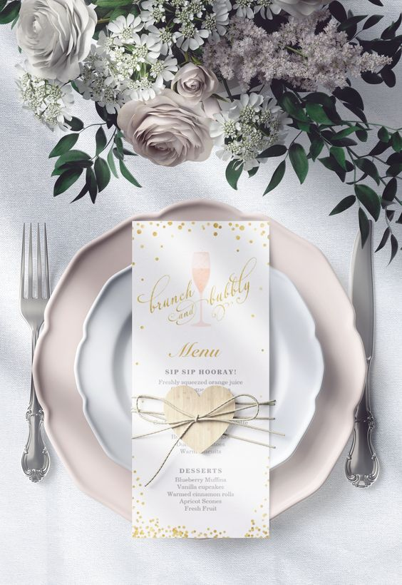 brunch and bubbly invitation