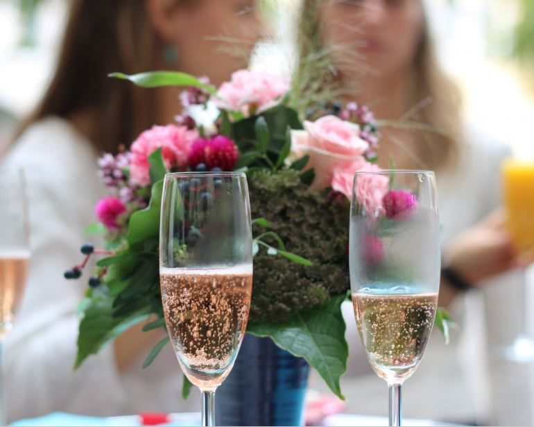 toast to a brunch and bubbly shower