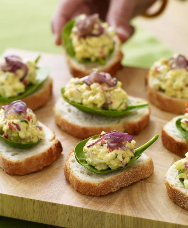 egg salad brunch idea