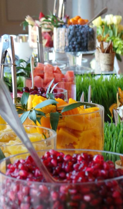 colorful fruit display for brunch