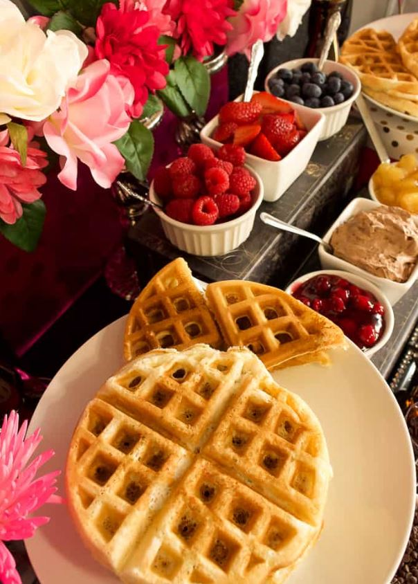 waffle bar for brunch shower