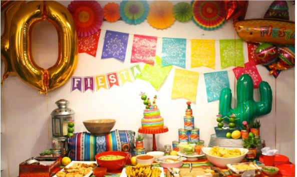 fiesta surprise party table idea