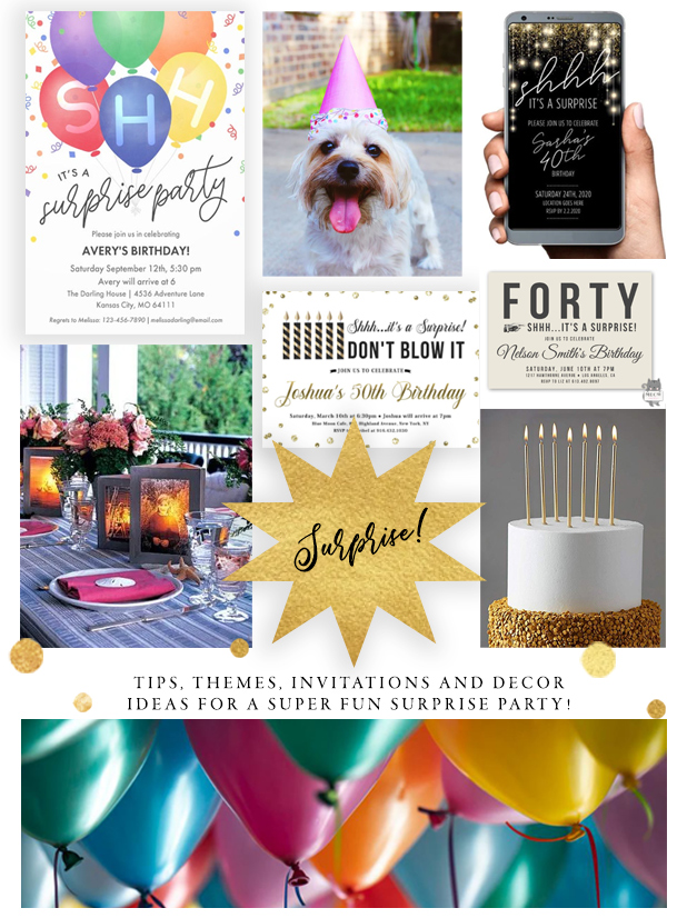 How To Plan A Surprise Party With Invitations Decorations And Theme Ideas Colleen Michele
