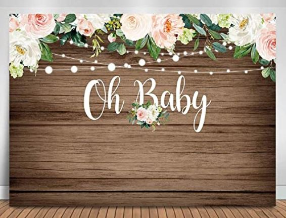 backdrop for virtual baby shower