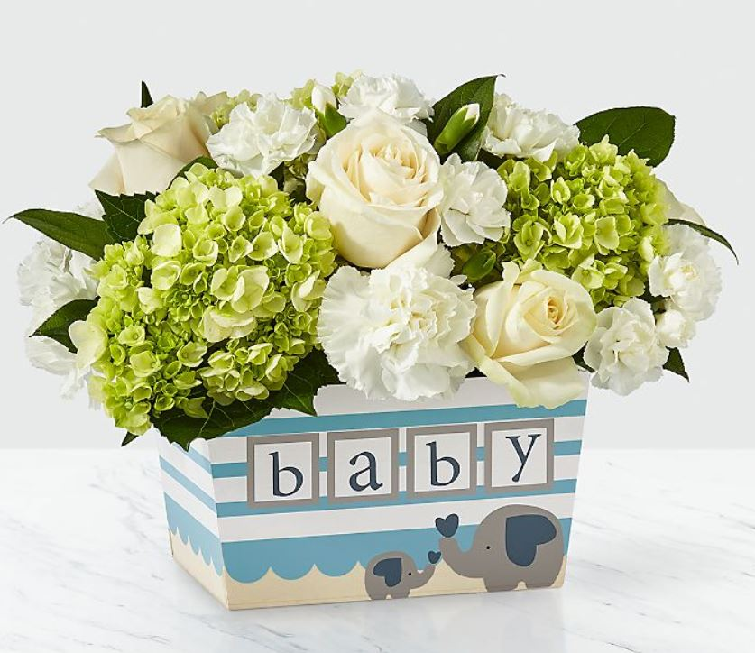 flowers for virtual baby shower