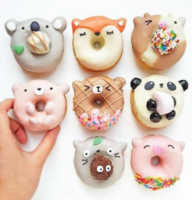 cute animal shaped donuts