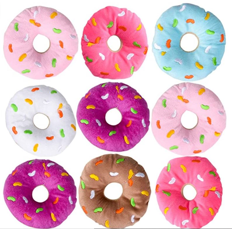 donut ring toss plushies