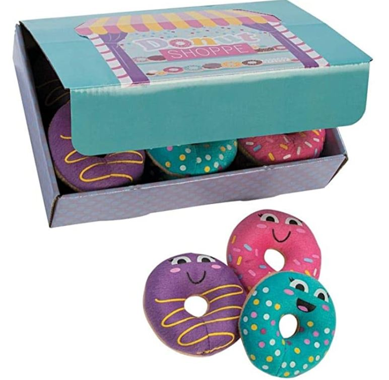 donut favors in party box