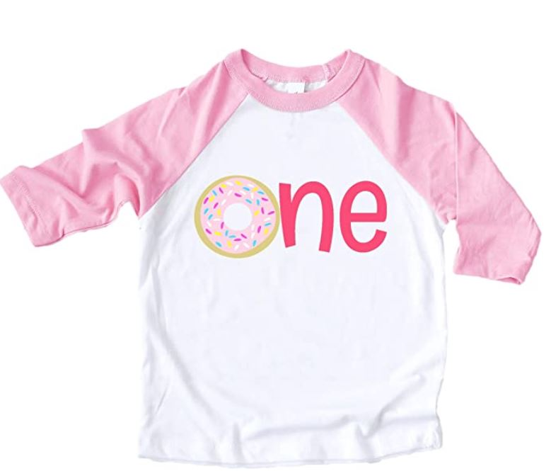 donut t shirt for first birthday