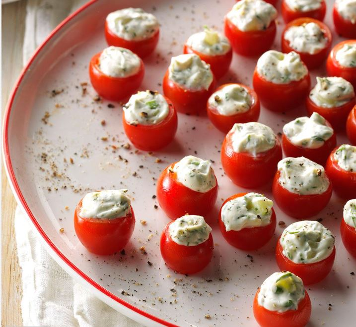 cucumber stuffed cherry tomatoes