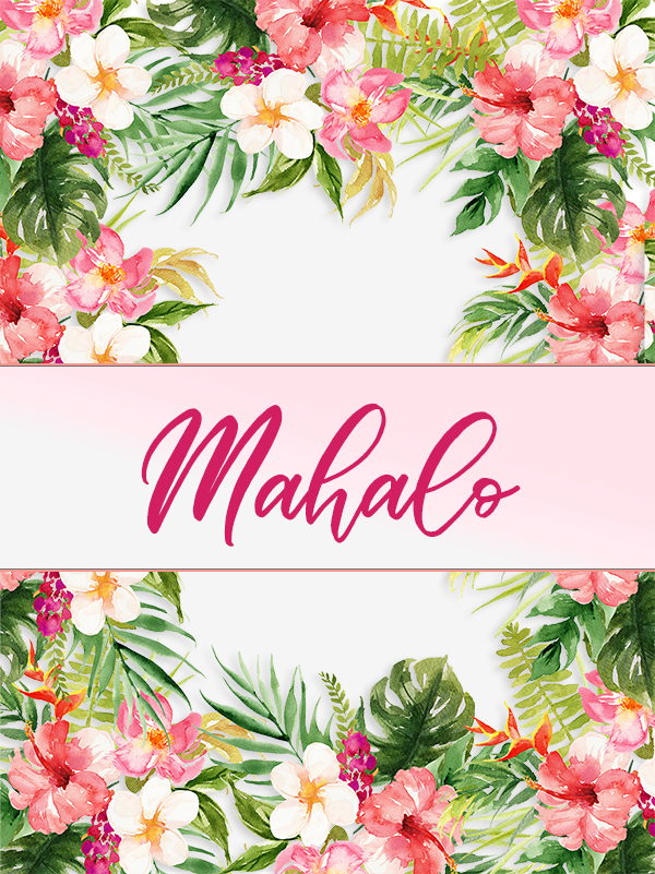 free tropical favor tags for bridal shower