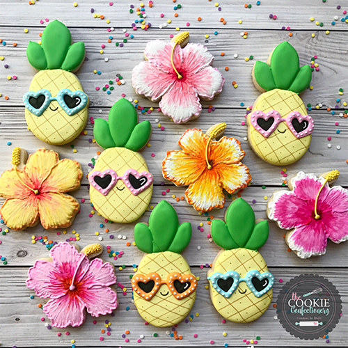 cute tropical cookies for shower