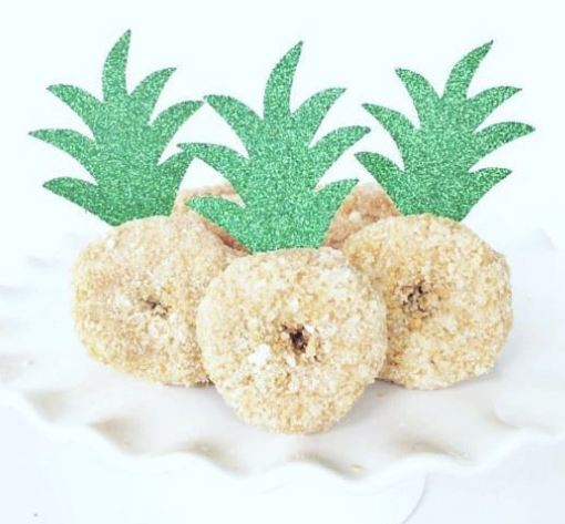 tropical bridal shower cute donut idea