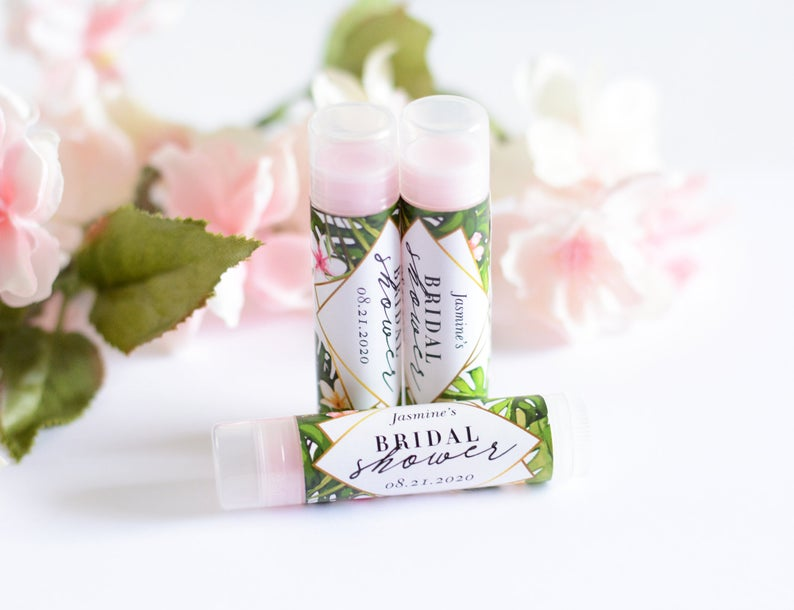 tropical lip balm party favors