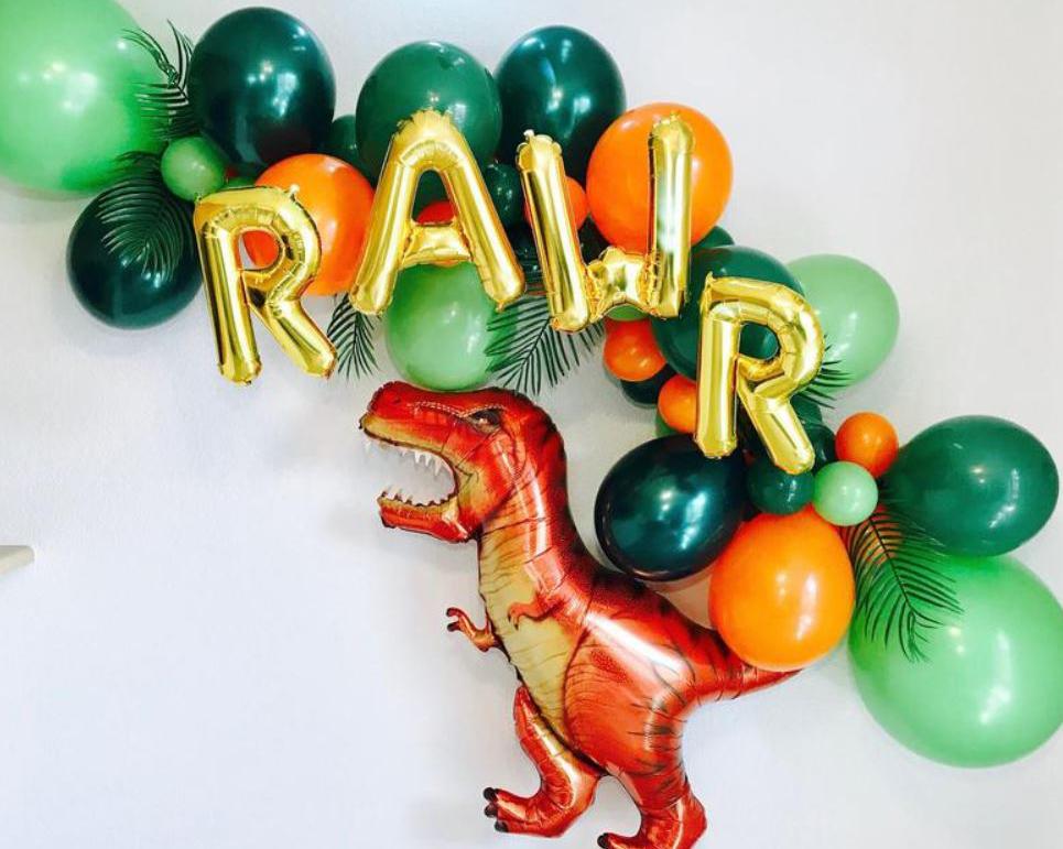 roar dinosaur balloons