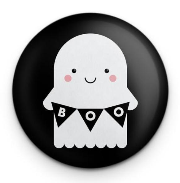 cute boo ghost pin