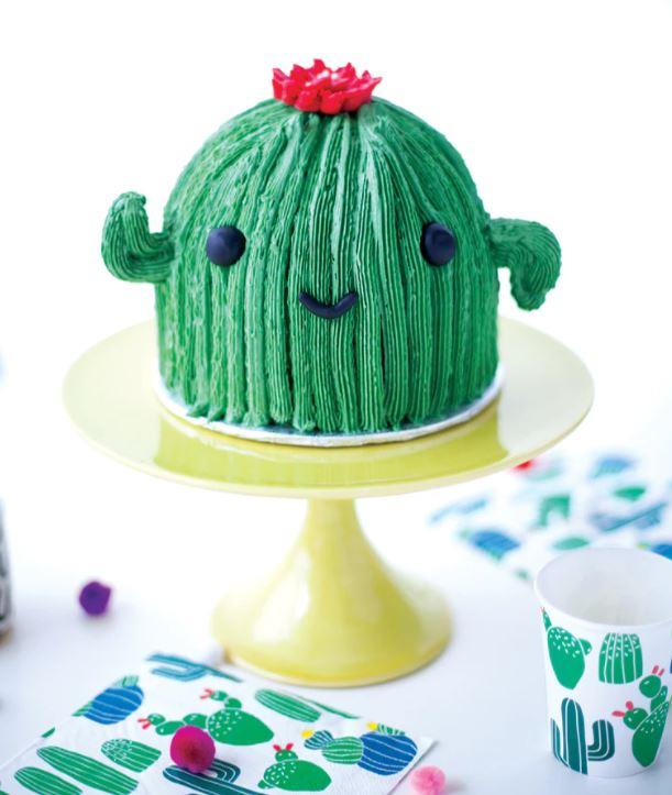 cactus theme baby shower cake