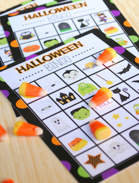 Free printable Halloween bingo card