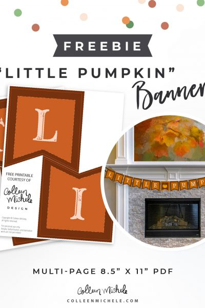free little pumpkin banner