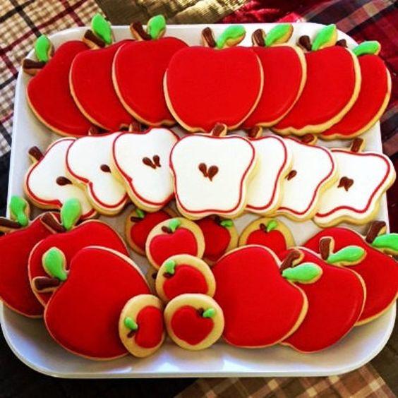 apple themed cookies