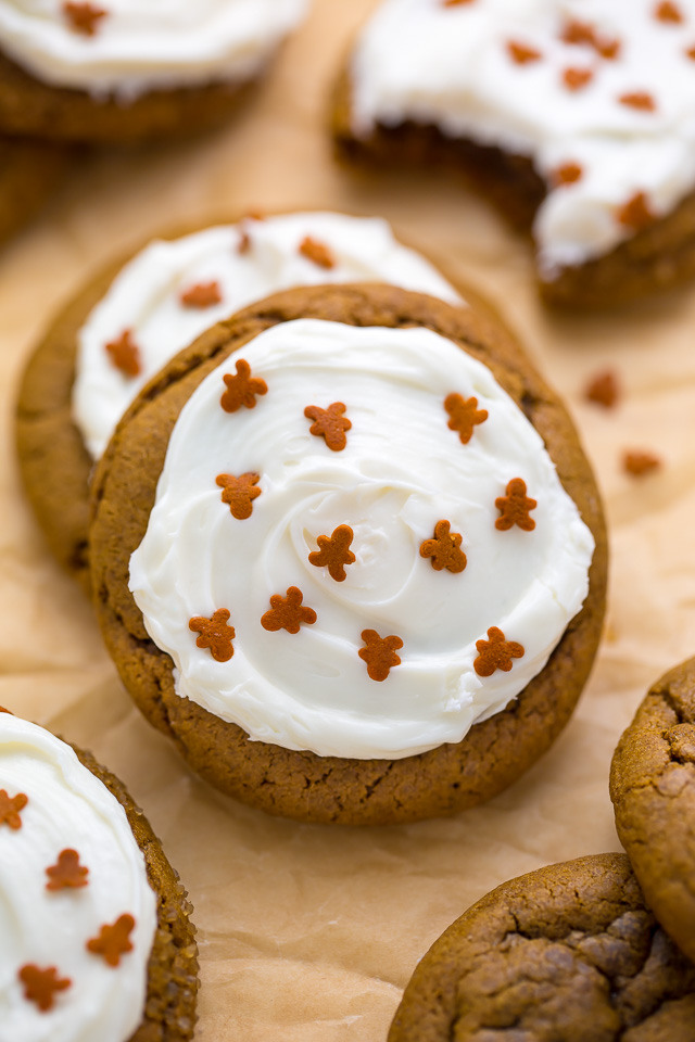 soft round ginger cookies