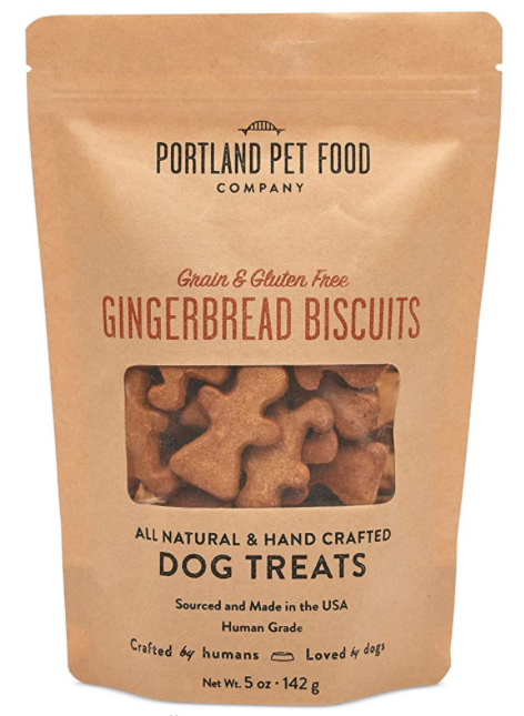 gingerbread dog treat biscuits