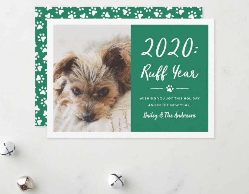 2020 Ruff Year Dog Christmas Card