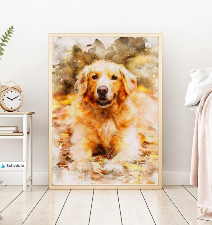 water color painting of your dog