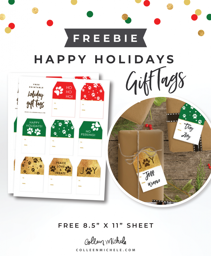 FREE PUPPY GIFT TAGS