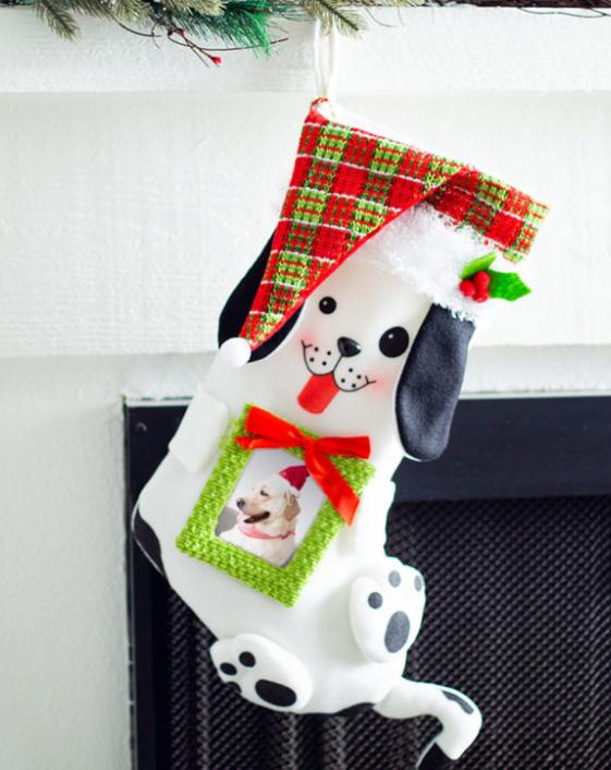 cute puppy stocking