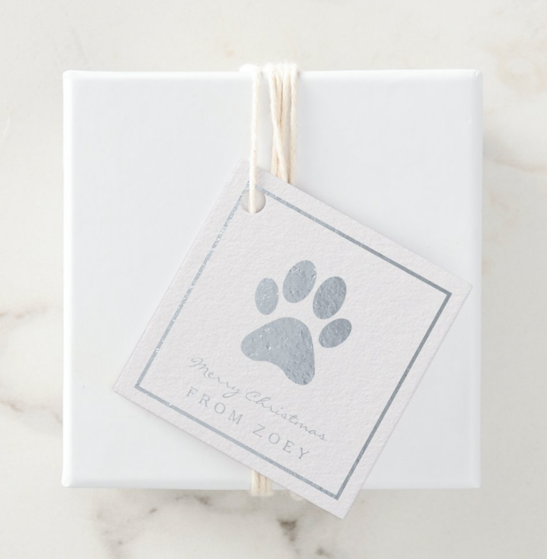 paw print gift tags