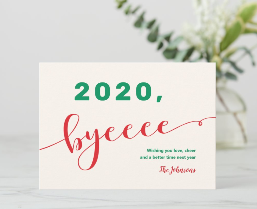 2020 byeeeee - greeting card