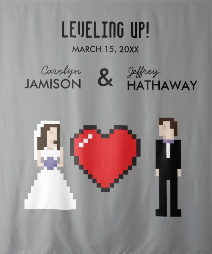 geeky wedding banner